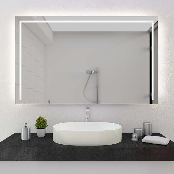 LED Badspiegel nach Maß Line III +