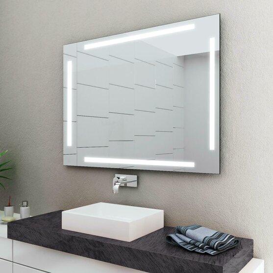 Badspiegel Mit Eingebautem Radio.Led Badspiegel Enjoy Mit Lichtstreifen Oben Concept2u 158 00