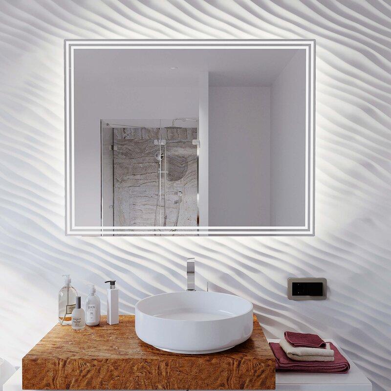 badspiegel mit licht vivre iv 118 00. Black Bedroom Furniture Sets. Home Design Ideas